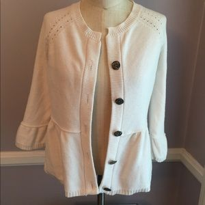 Sweaters - Great cardigan with peplum and bell sleeves